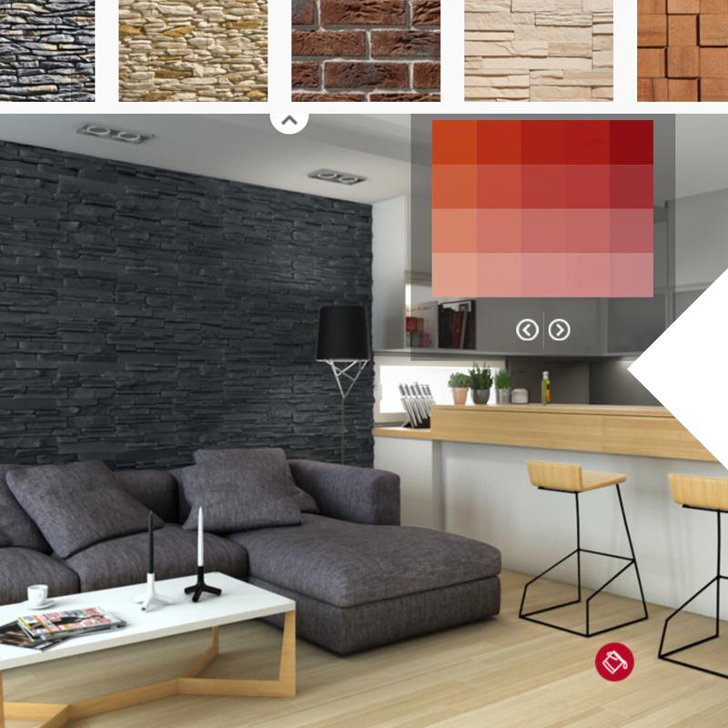 Parement Mural Intérieur Design plaquette de parement pierre naturelle, intérieur, pierre décorative